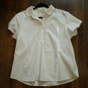 Coldwater Creek XL White Short Sleeve shirt